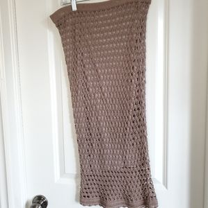 Lined Crocheted Maxi Skirt